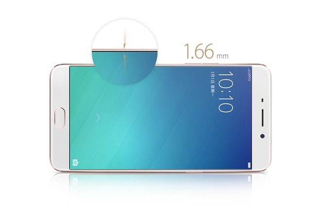 The OPPO F1 Plus has ultra-thin 1.66 mm bezels