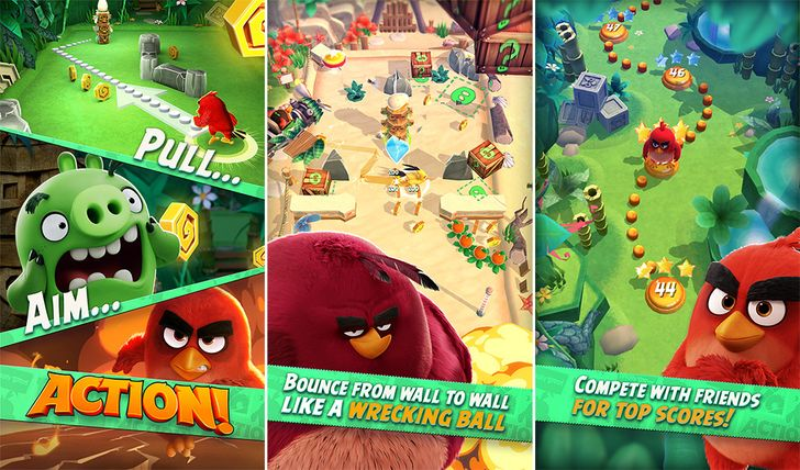 Angry Birds Action! Now Available To All In The Play Store