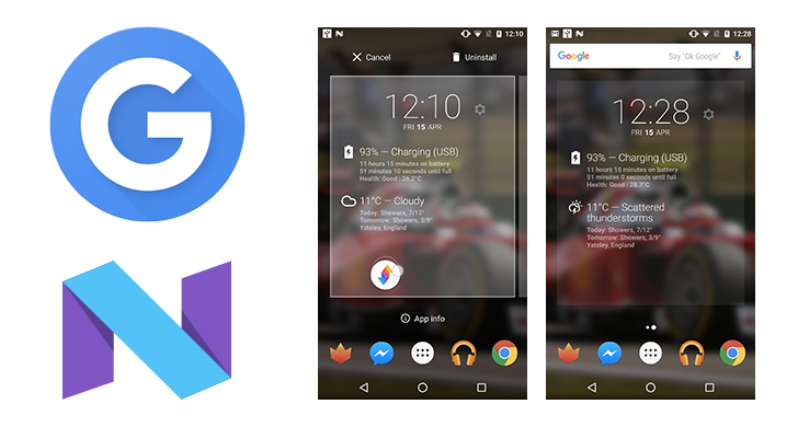 Google Launcher On Android N Dev Preview 2 Has Pinch To Overview And App Info When Dragging From The Home Screen
