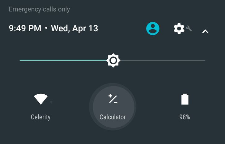 [Update: Calculator Works When Device Is Locked] Android N Dev Preview 2 Adds A Calculator Quick Settings Tile