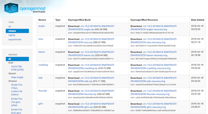 CyanogenMod Releases The Second 13.0 Snapshot Builds