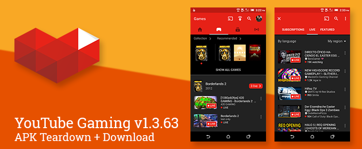 YouTube Gaming v1.3.63 Includes Several Little Visual Enhancements [APK Download]