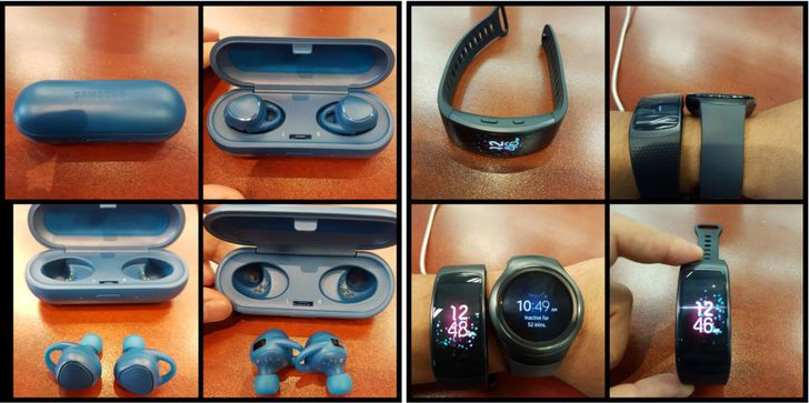 Leak: Samsung Gear Fit 2 Fitness Bracelet And IconX Wireless Earbuds
