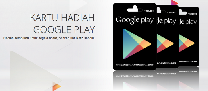 Google Play Gift Cards Come To Indonesia