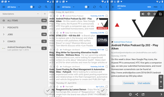 gReader RSS Reader Gets Its First Update In Eight Months, With Chrome Custom Tabs, UI Improvements, LG Multi-Window Support, And More