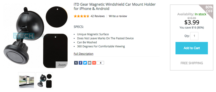 [Deal Alert] Grab This Magnetic Windshield Car Mount For $3.99 With Free Shipping On iTechDeals