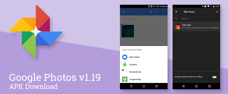 Google Photos v1.19 Allows Custom Music In Generated Movies, Adds Better SD Card And Folder Management, And Makes A Bunch Of UI Tweaks [APK Download]