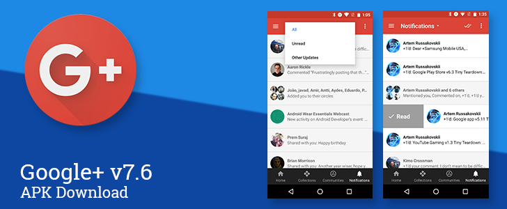 [Update: Changes Were Reverted By Server-Side Switch] Google+ v7.6 Brings A Bunch Of Improvements To The Notifications Screen [APK Download]