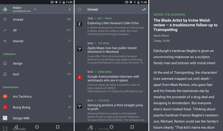 Quote, From The Developer Of Fenix, Is A Slick News Reader For Feedly And Inoreader