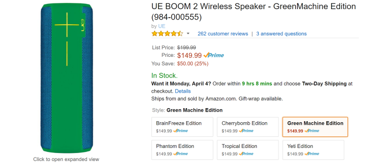 [Deal Alert] All Colors Of Logitech's UE Boom 2 On Sale For $149.99 On Amazon - $50 Off (That's A Good Deal)
