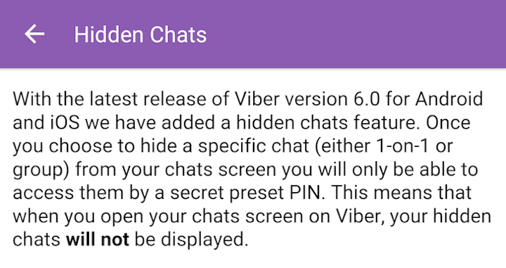 Viber Rolls Out End-To-End Encryption Verification, Hidden Messages