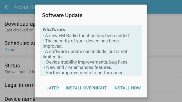 The Latest OTA For T-Mobile's Samsung Galaxy S7 And S7 Edge Enables FM Radio