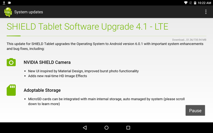 NVIDIA Finally Rolls Android 6.0.1 Out To The LTE SHIELD Tablet In The US