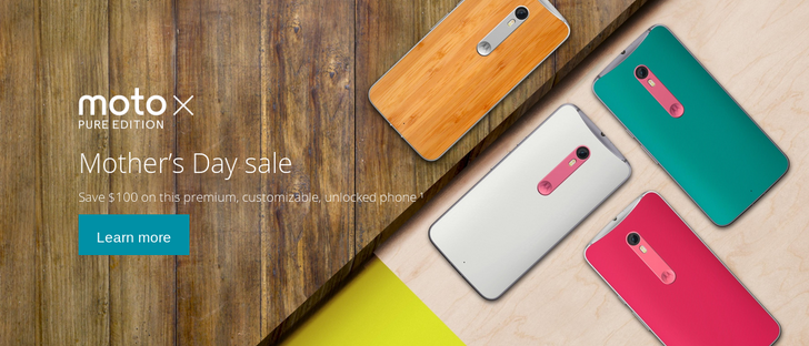 [Deal Alert] Moto X Pure On Sale For Mother's Day At Motorola.com, Amazon, Best Buy, And B&H (Prices Start At $299.99)