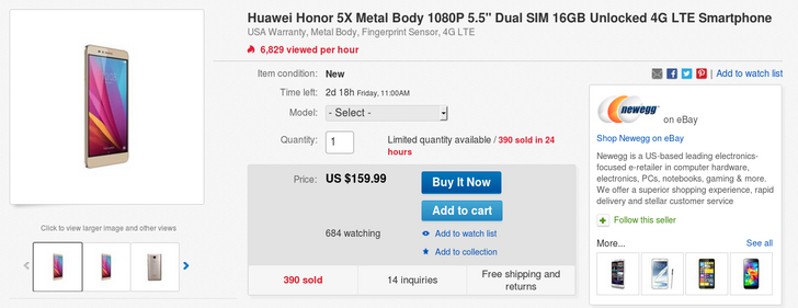 [Deal Alert] New Huawei Honor 5X Phones Are Selling On eBay For $159.99 ($40 Off)