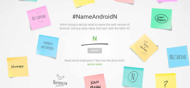 Google Wants Your Help Creating A Name For Android N