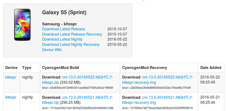 CyanogenMod 13 Comes To The Sprint, US Cellular, And Vodafone Galaxy S5 — Plus The AT&T LG G3 And Xperia SP