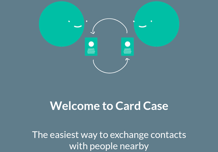 Card Case Shares Contact Details With Those Around You Using The Nearby API