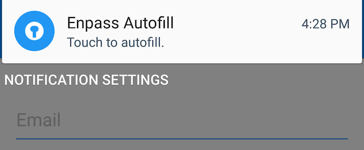 Enpass Password Manager Adds An Autofill Notification, No Longer Requires A Separate Keyboard