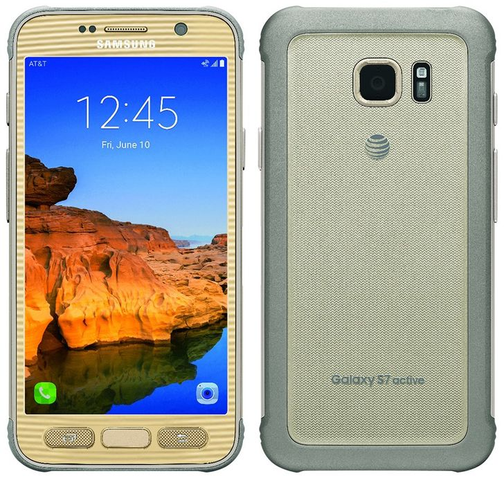 Samsung Galaxy S7 Active Leaked In Mega-Gaudy Gold Color