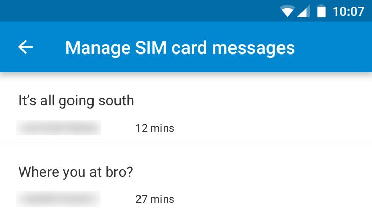 Messenger 1.8.266 Adds A SIM Card Messages Manager [APK Download]