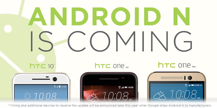 [Update: Starting Q4 for HTC 10] HTC Says Android N Will Come To The HTC 10, One A9, And One M9