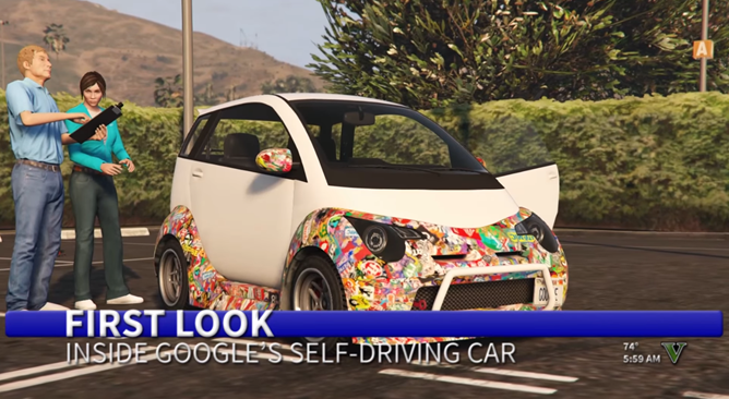 Off-Topic: This Hilarious Grand Theft Auto Parody Of Google's Self-Driving Car Will Start Your Day Off Right