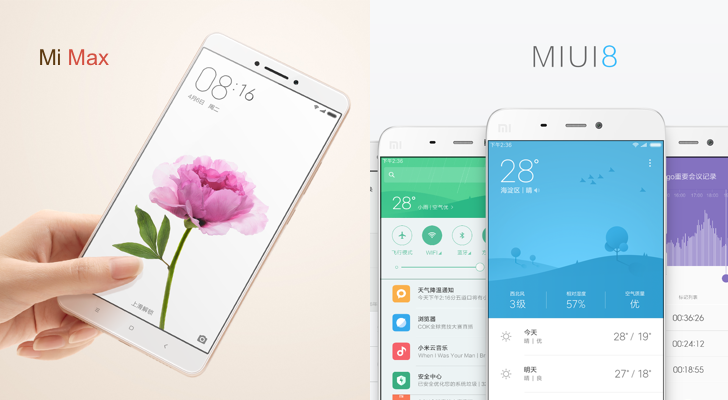 Xiaomi Announces MIUI 8 And The Gigantic Mi Max