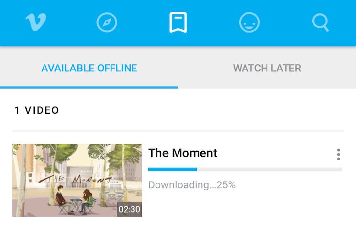 Vimeo 2.2. Introduces Offline Video Caching And Playback