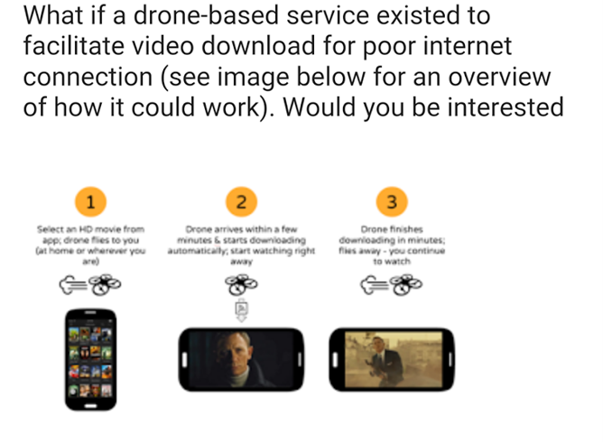 Really: Opinion Rewards survey asks if you'd like on-demand Wi-Fi drones to download movies on the go
