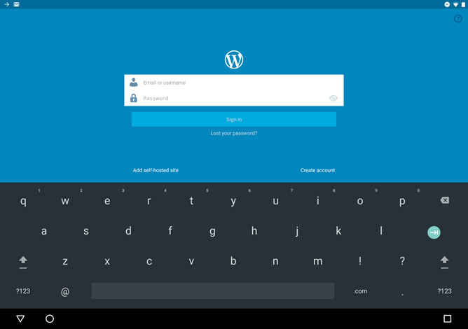 WordPress For Android Adds Google's Smart Lock System For Easy Password Entry