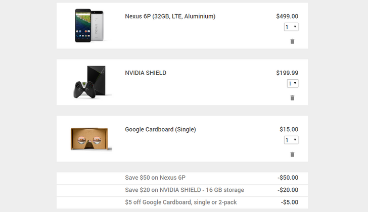 [Deal Alert] Google Store Deals: $20 Off SHIELD Android TV, $50 Off Nexus 6P, And $5 Off Cardboard [Update]