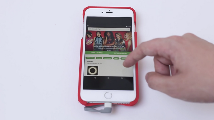 Developer Hacks Together A Case That Lets You Run Android On An iPhone