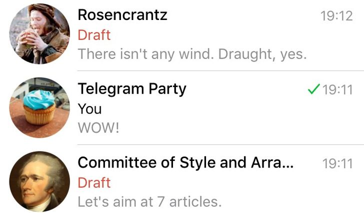 Telegram 3.10 introduces message drafts, a new video player, unread message counter, and more