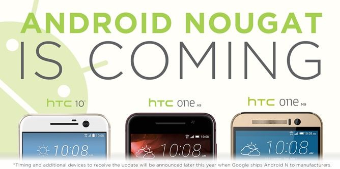 HTC promises Android Nougat upgrades for the One M9, One A9, and HTC 10