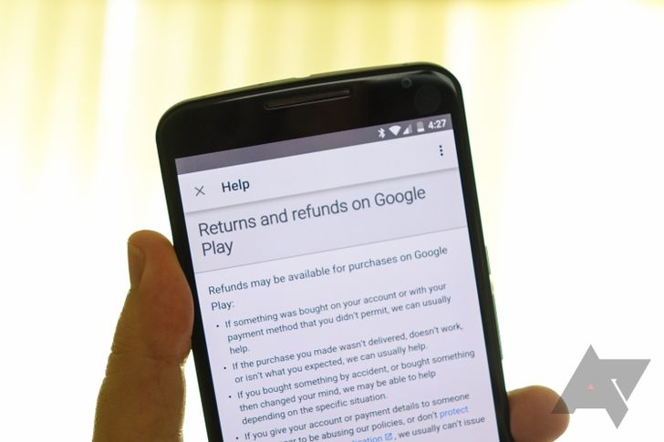 Two Years Later, Google Play Support Docs Acknowledge 48-Hour Refund Window