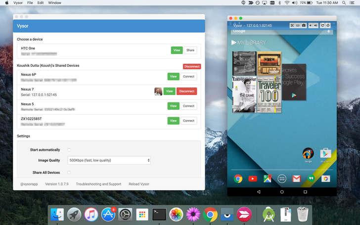 Vysor's New 'Share All' Feature Lets You Set Up A Device Farm In A Few Clicks
