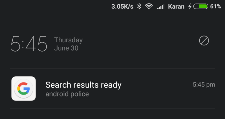 Google app tests notifying you when search results are ready in background