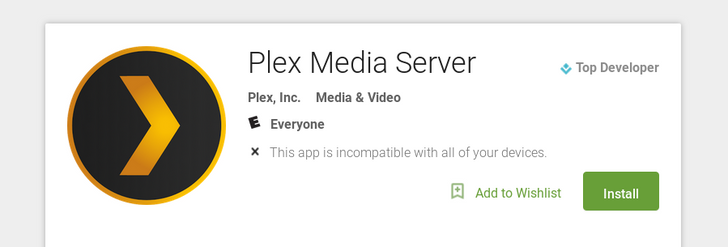 Plex Media Server Android app appears on Google Play ahead of SHIELD TV update