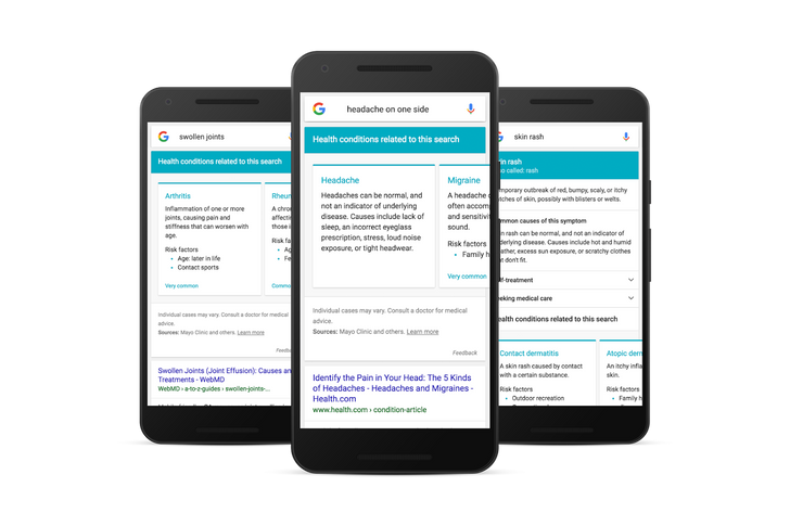 Google is getting a symptom search feature, making it easier than ever to convince yourself that headache is brain cancer