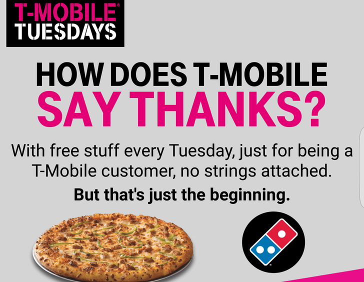 Yesterdays T-Mobile Tuesday Domino's deal ended with a bunch of people with no pizza