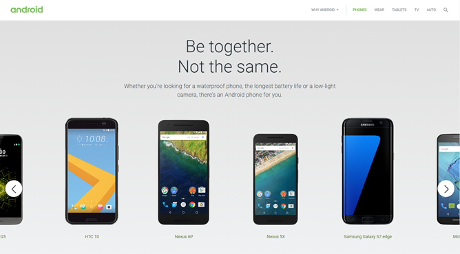 Google refreshes its Android.com feature pages, gets rid of Android One for some reason