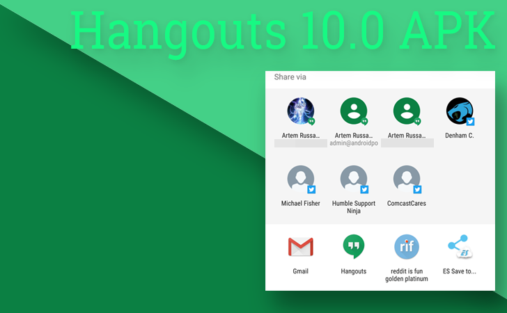 Hangouts v10.0 For Android Adds Direct Share Support (APK Download)