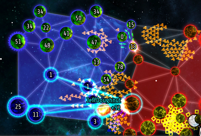 Galcon 2 revives a simplified space strategy game with new multiplayer modes and more complex tactics