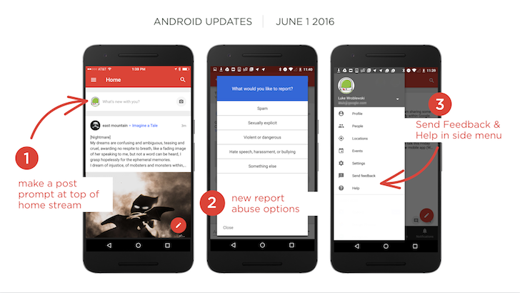 Google+ 8.0 Encourages You To Share More And Improves Post Reporting [APK Download]