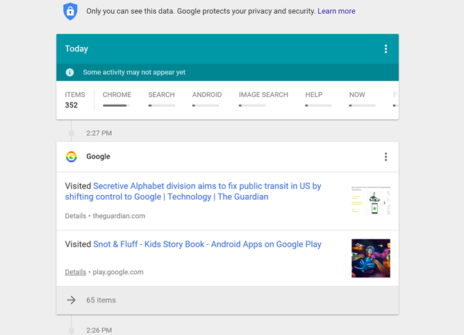 Google launches new My Activity site, reaffirms Google knows basically everything about you
