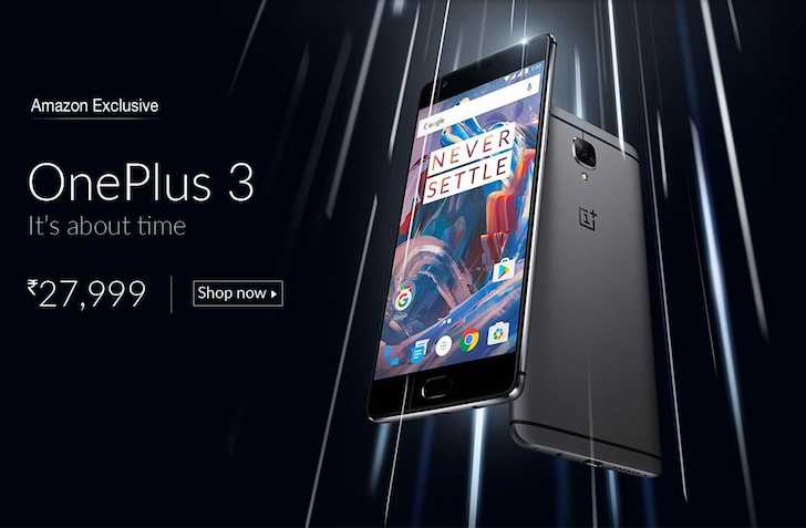 Amazon India scoops OnePlus by publishing the full listing of the OnePlus 3