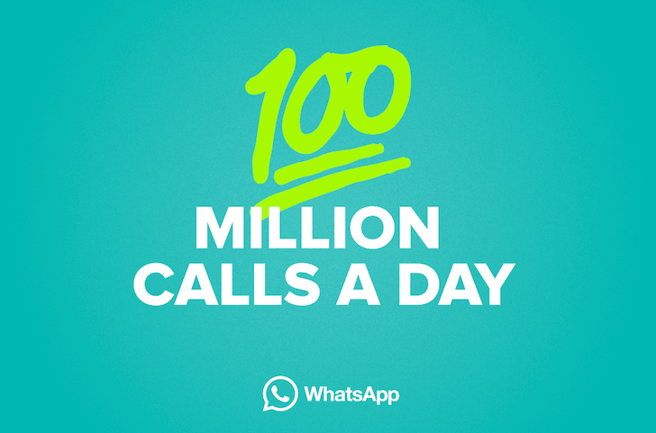 [Can you hear me now?] A jaw-dropping 100 million WhatsApp voice calls are made each day