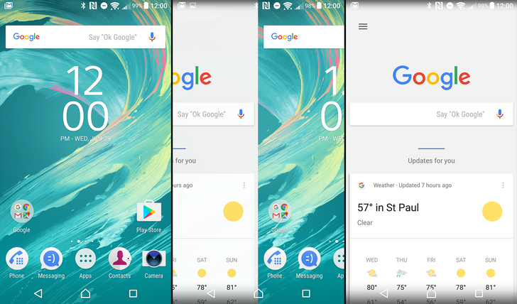 Sony Xperia Home beta updated with full Google Now integration