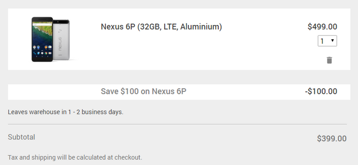 [Deal Alert] Google Store joins in $100 off Nexus 6P deal, adds $30 off select Chromebooks, $5 off Chromecasts, and more